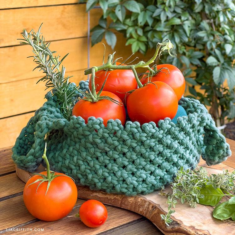 DIY macrame basket