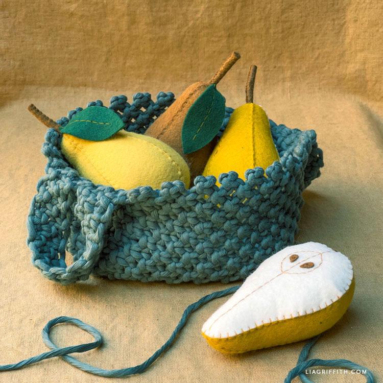 macrame fruit basket