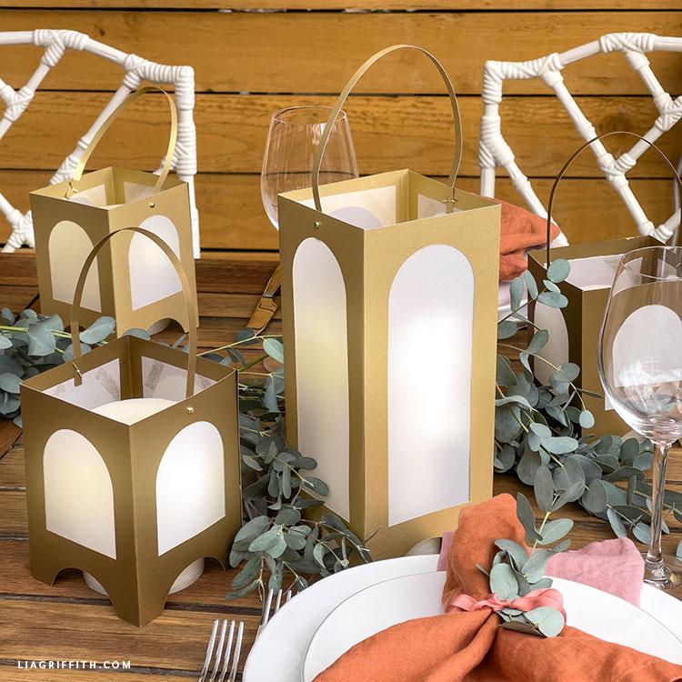 paper arched garden lanterns