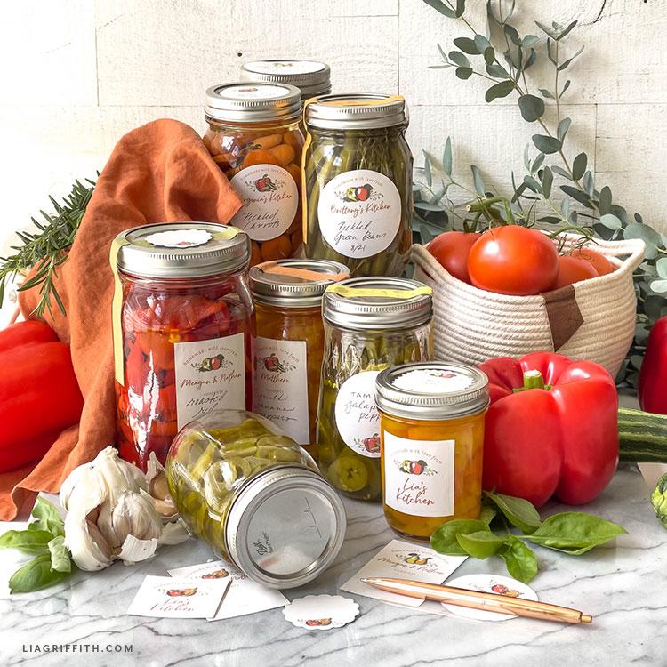 free vintage canning labels