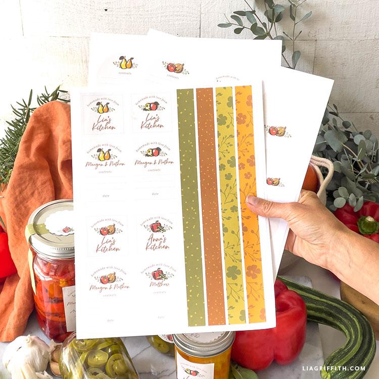 etiquetas de conservas imprimíveis para o outono
