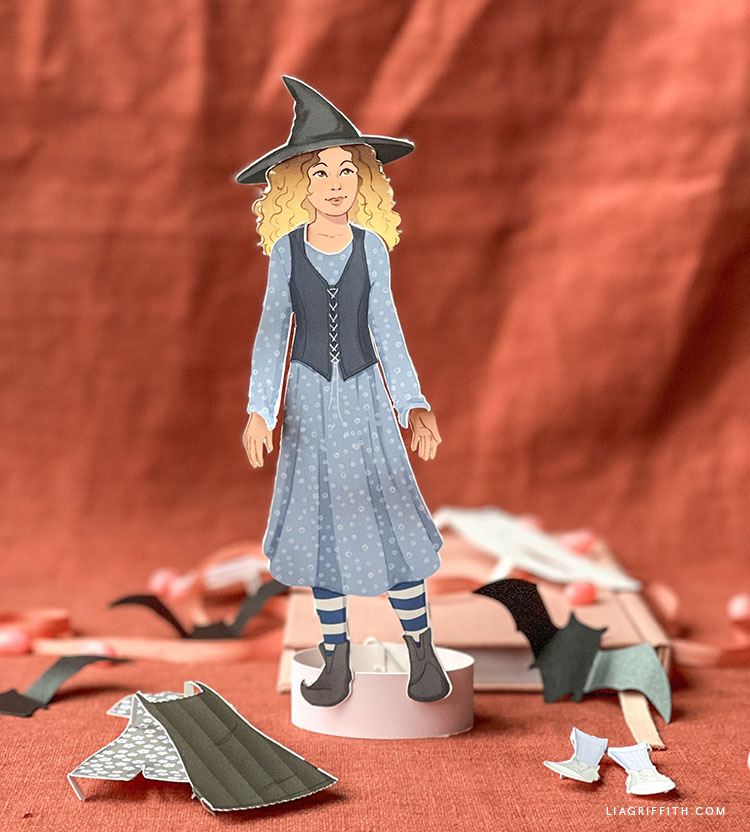 paper doll for Halloween