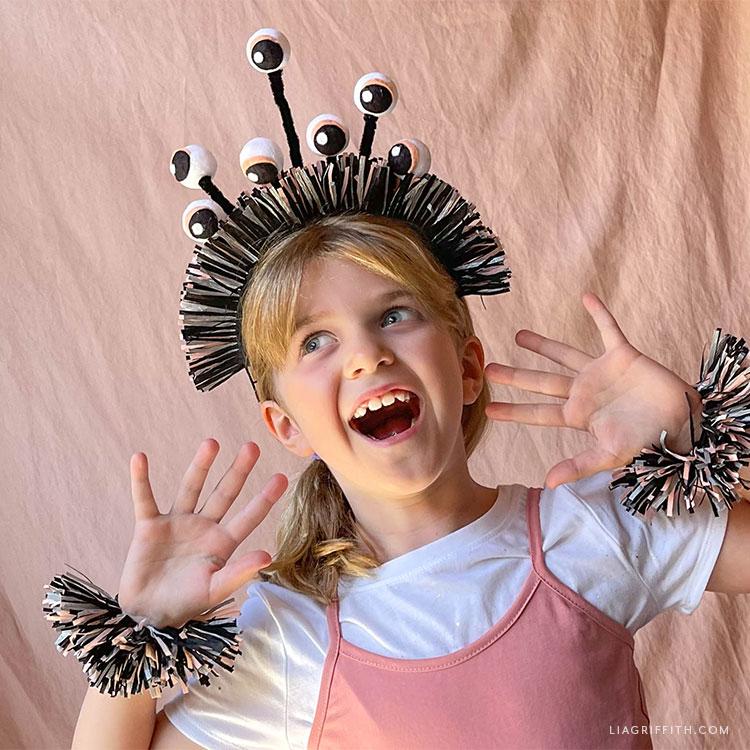 DIY monster costume for kids