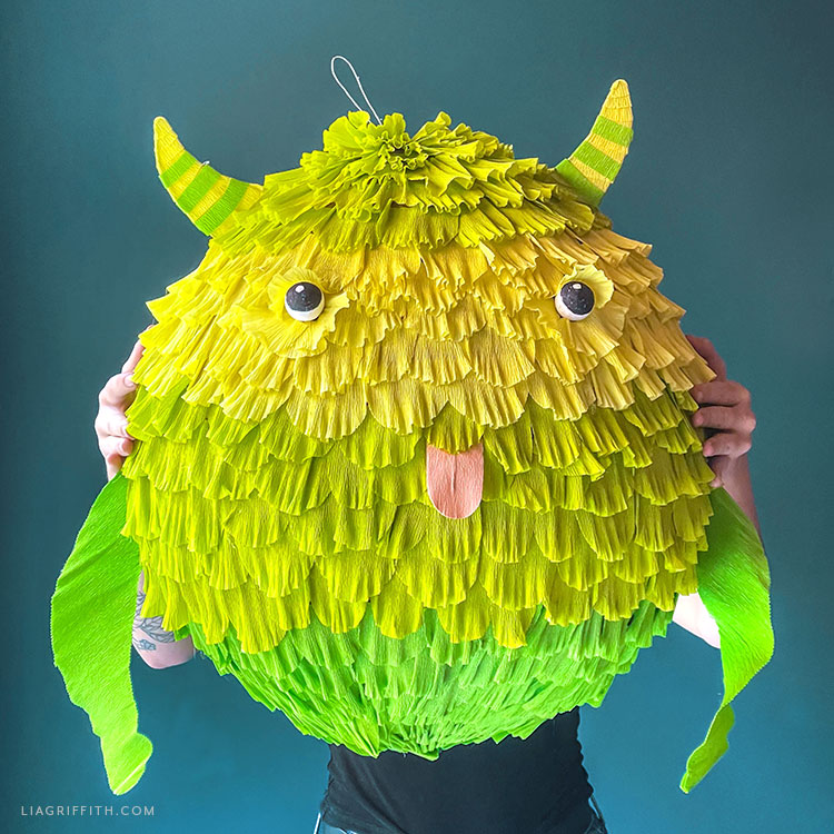 paper mache monster piñata