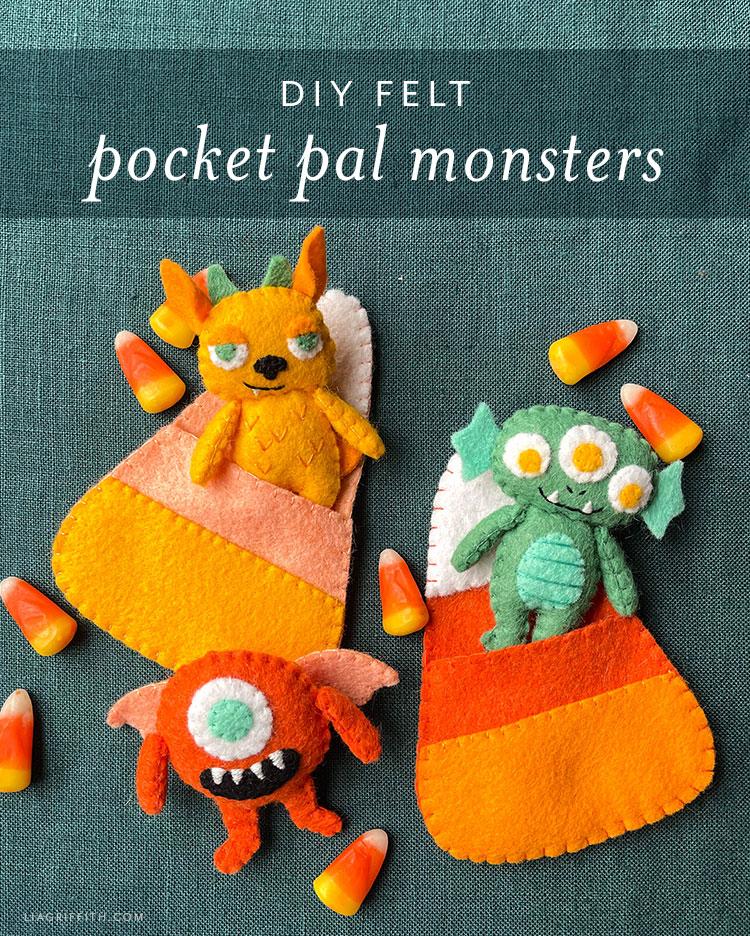 DIY felt pocket pal monsters