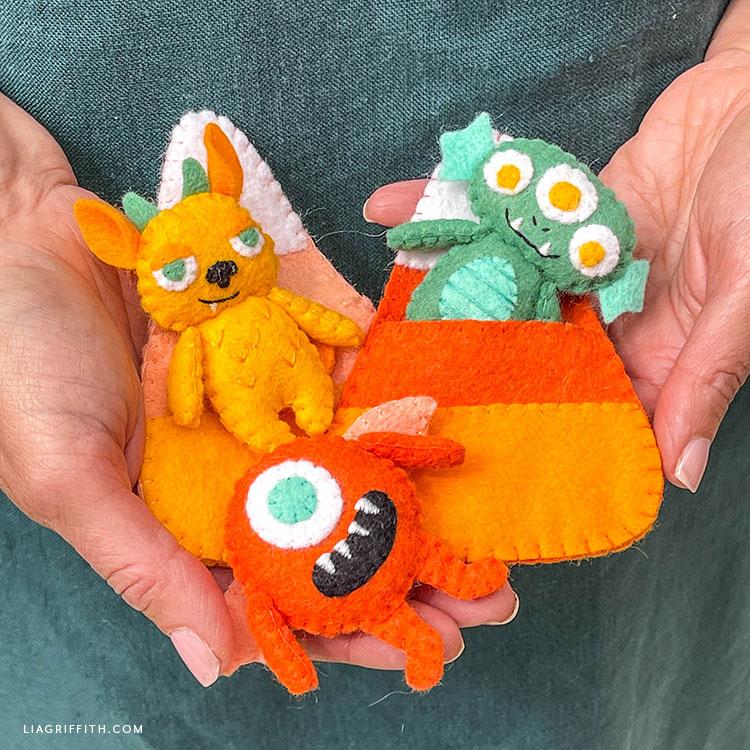 handmade felt monster pocket pals