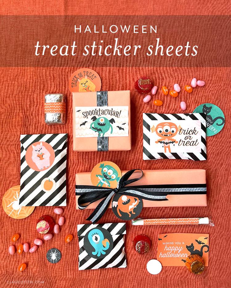 Halloween treat sticker sheets
