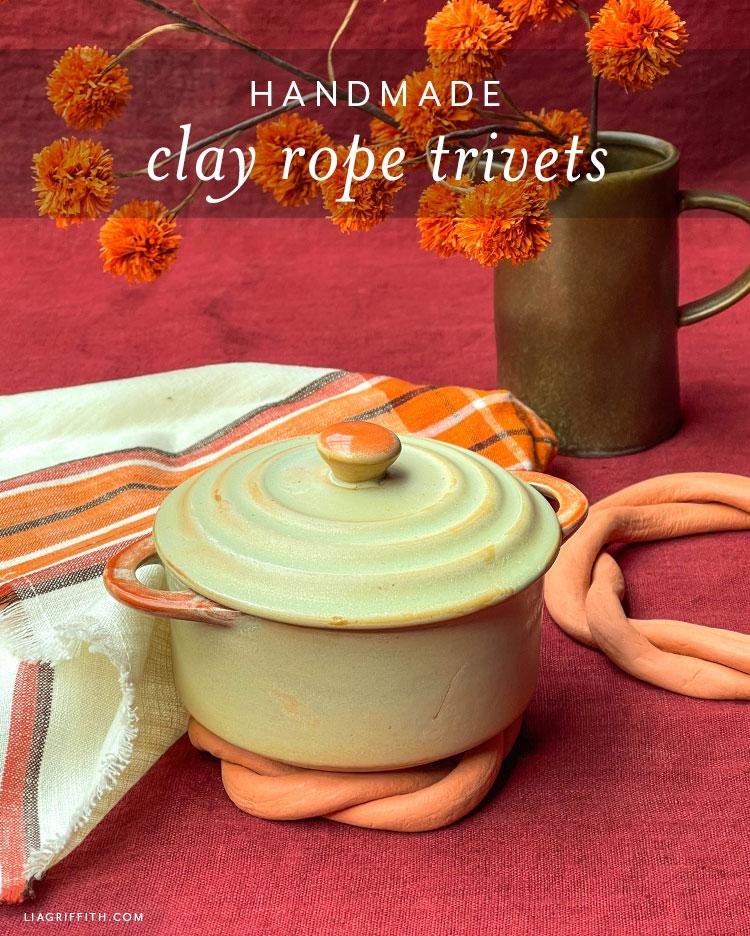 handmade clay rope trivets