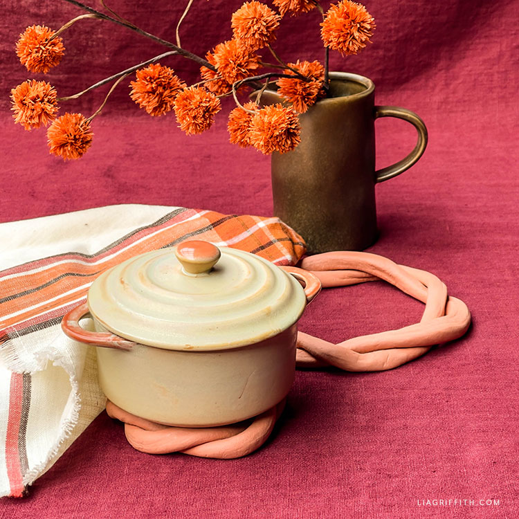 clay rope trivets