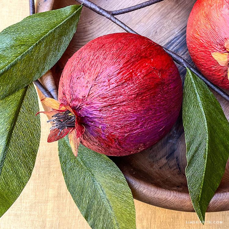 crepe paper pomegranate