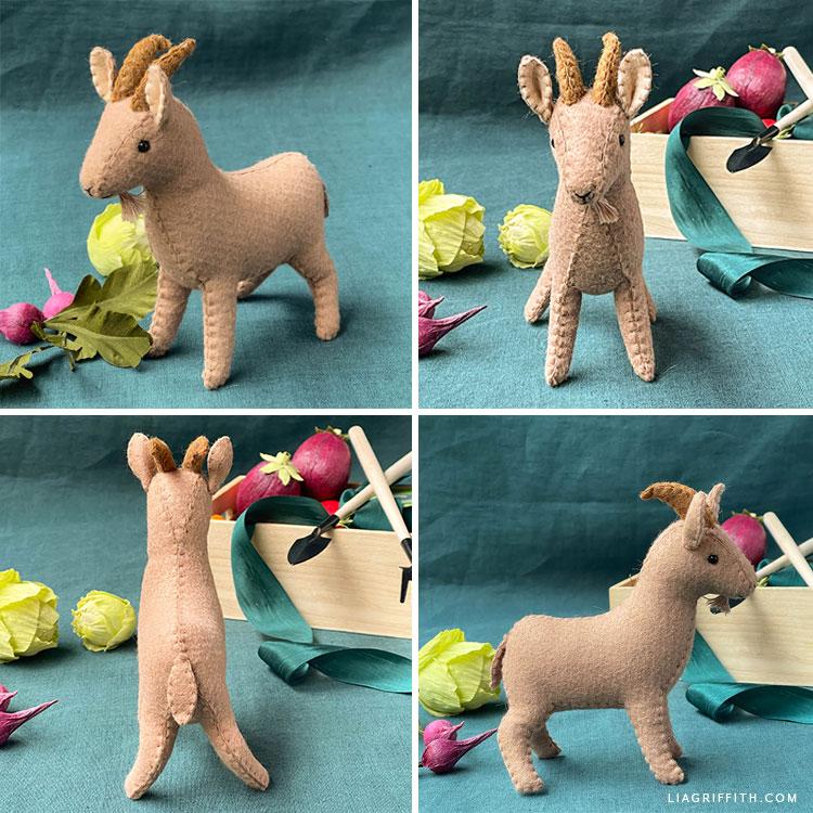 handmade felt billy goat stuffie