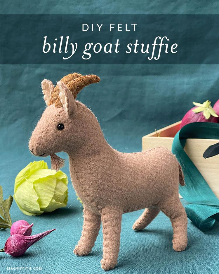 DIY felt billy goat stuffie