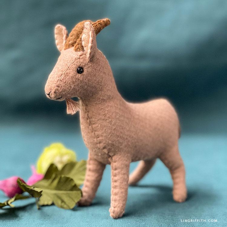 felt billy goat stuffie