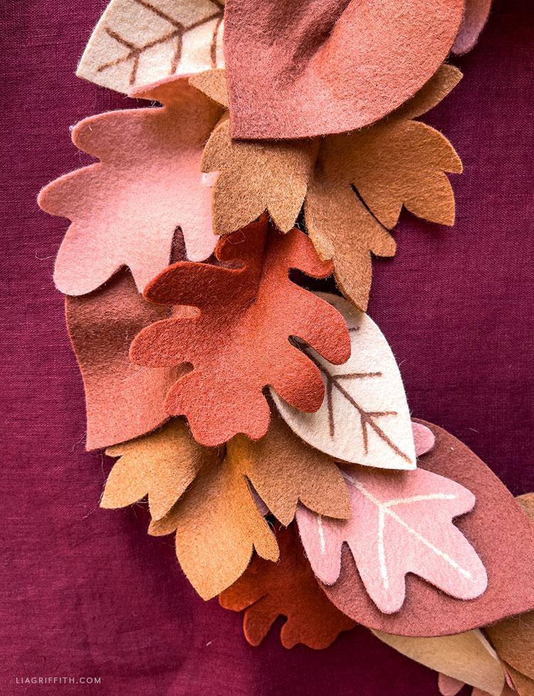 felt leaves for fall