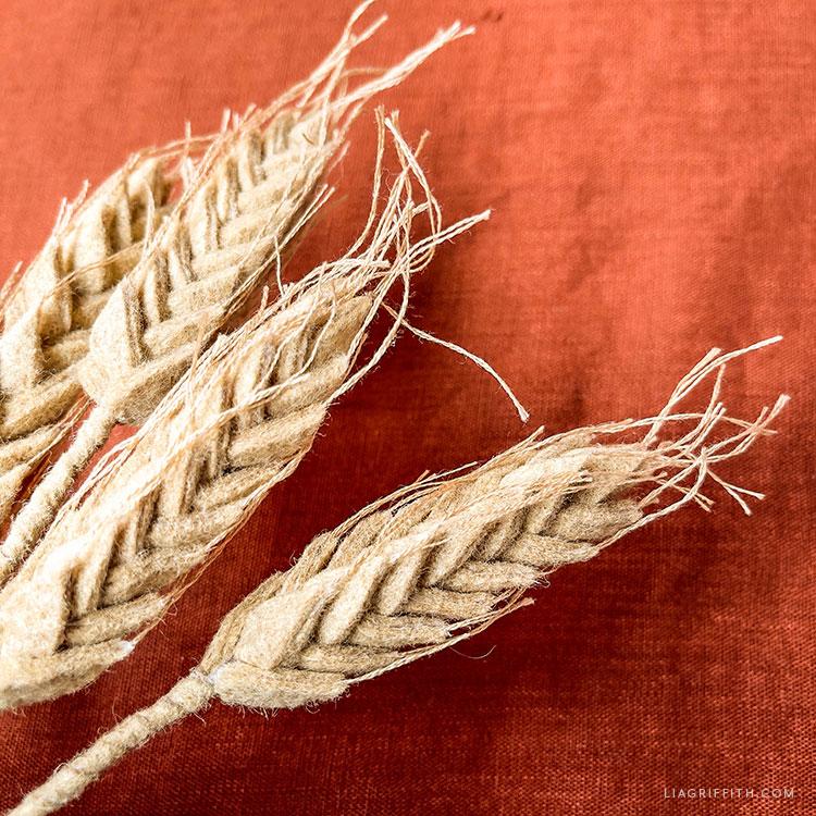 DIY felt wheat stalks