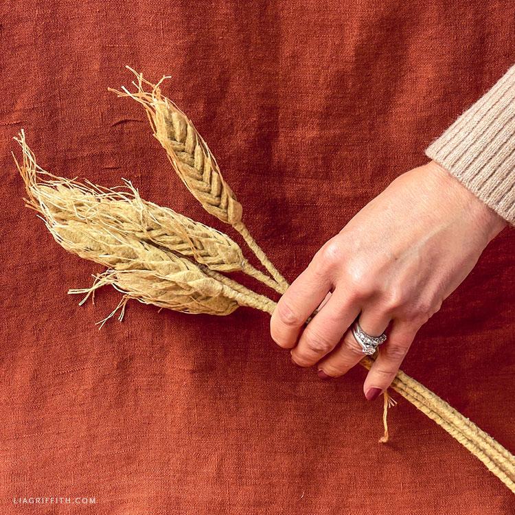 handmade felt wheat