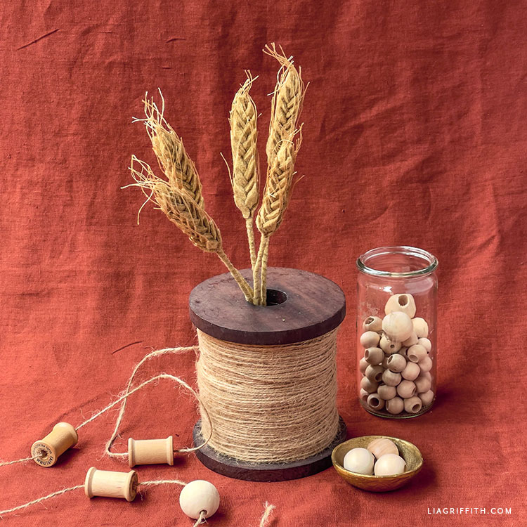 felt wheat stalks