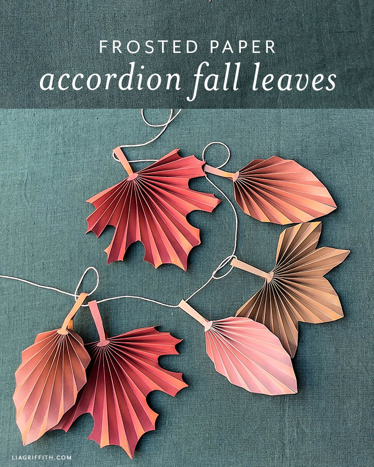 frosted paper accordion fall leaves