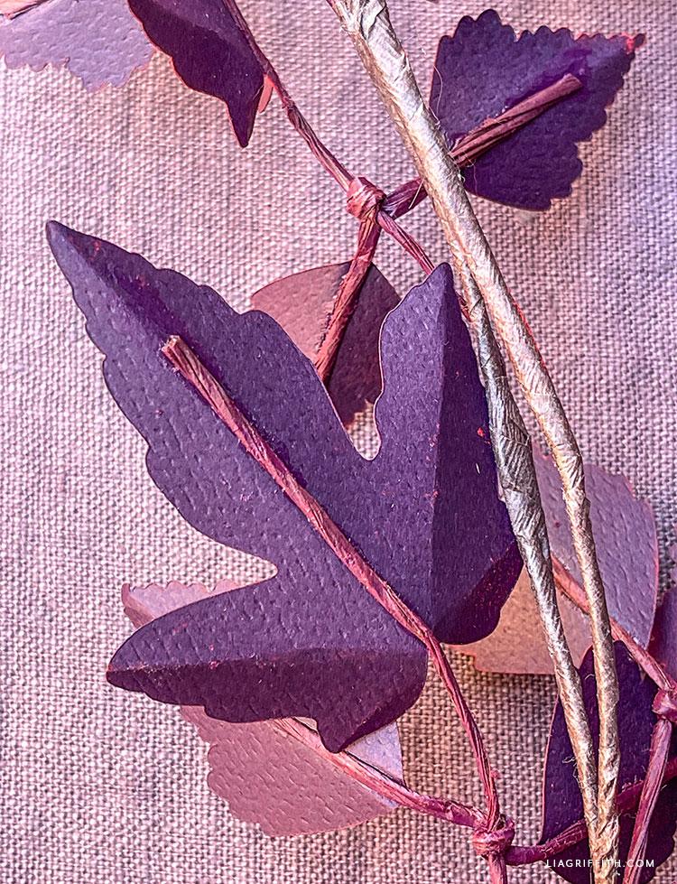 DIY fall leaf branch