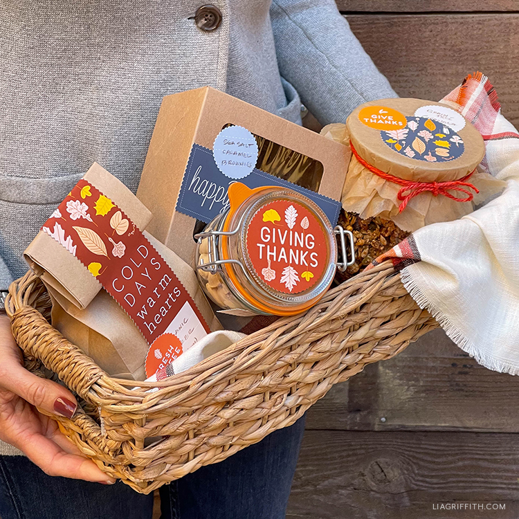 printable labels for fall gift baskets