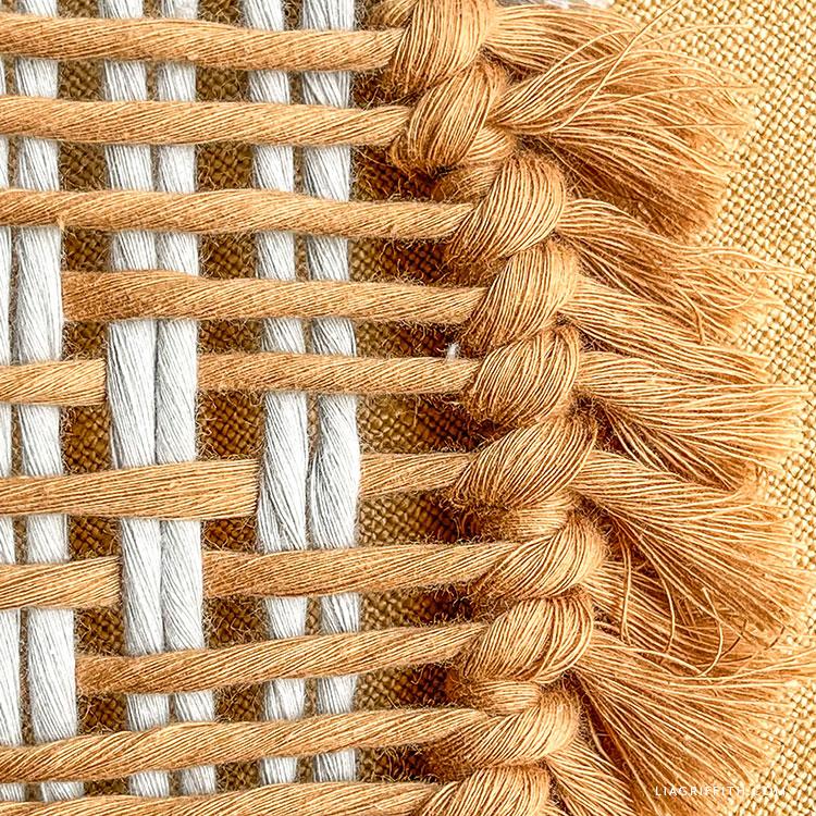 Decoração de macramé tecido DIY
